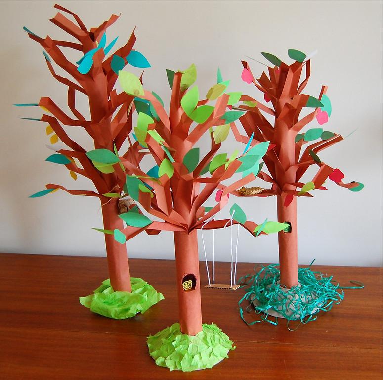 бумажное дерево своими руками видео