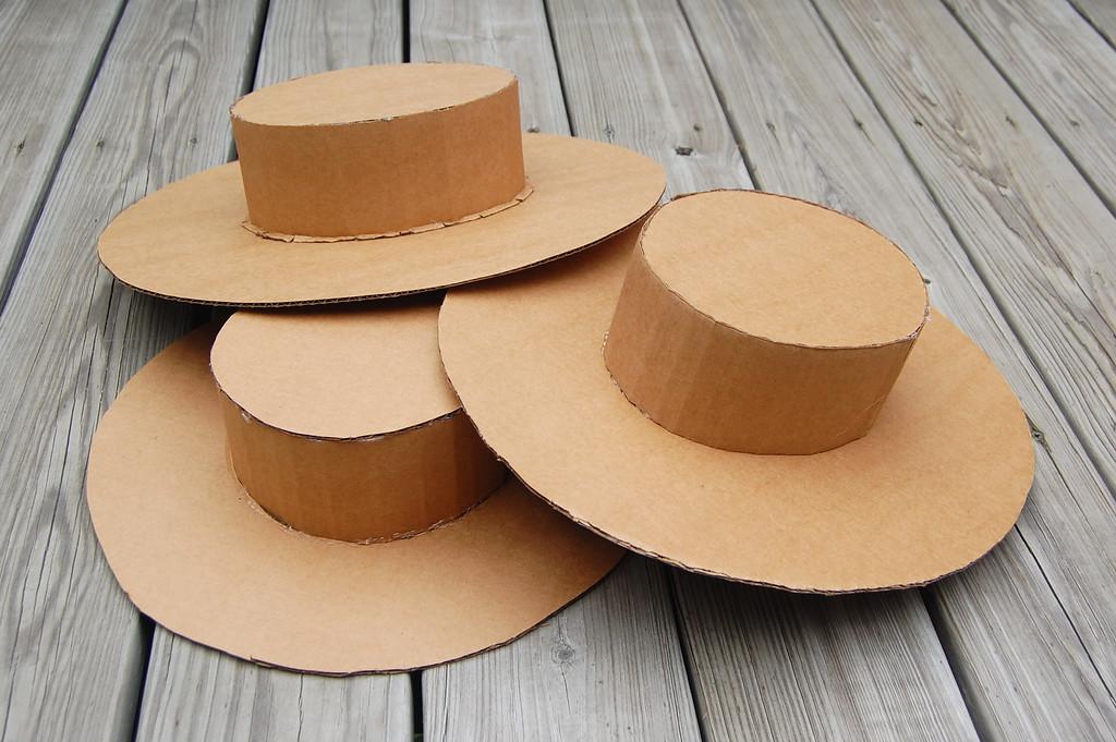 Как сделать шляпку из картона своими руками