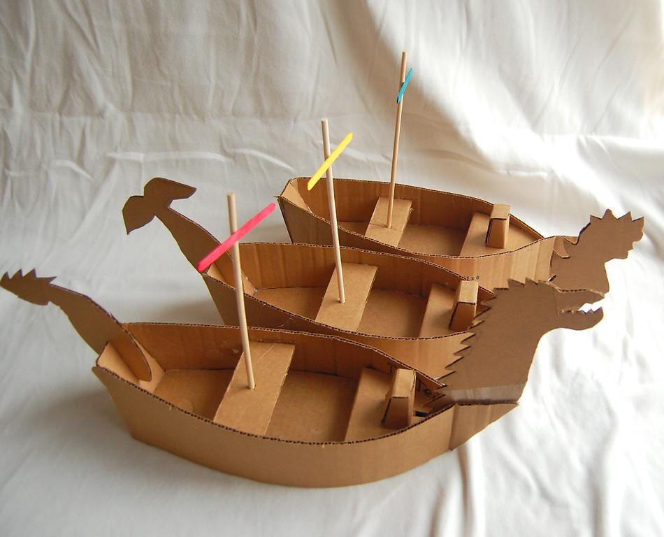 Как сделать из картона и бумаги корабль